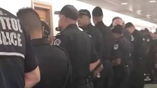 US Capitol Police Corner Off Healthcare Bill Protesters - Video