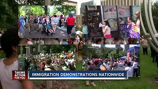 Immigration protests nationwide - Video