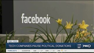 Social media sites to stop political donations