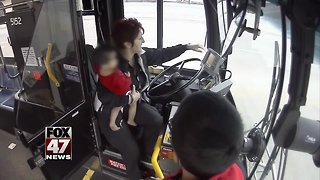 Wisconsin bus driver saves 1-year-old left alone on freeway overpass - Video