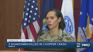 Three guardsmen killed in chopper crash