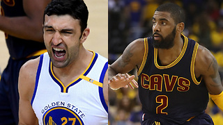 Zaza Pachulia's DIRTY SCREEN on Kyrie Irving & NBA Finals Game 2 Highlights - Video