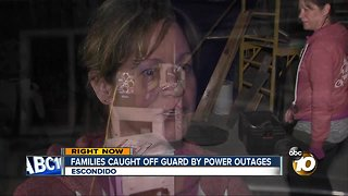 Families caught off guard by power outages