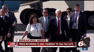 Vice President Mike Pence to visit Indianapolis Thursday - Video