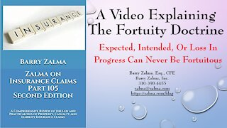 A Video Explaining The Fortuity Doctrine