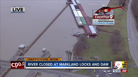 Second barge accident at Markland Locks and Dam
