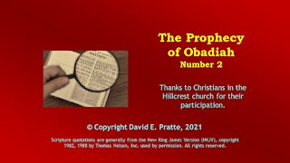 Video Bible Study: Book of Obadiah - 2