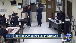Denver Sheriff's deputy caught on camera flipping inmate's tray of food; deputy suspended - Video