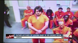 Father Accused of Leaving Baby in 109 Degree Room - Video