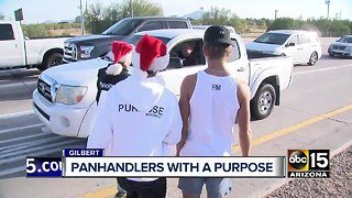Non-profit group panhandles around the Valley to help feed the homeless