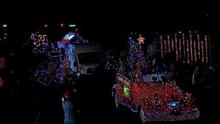 APS Electric Light Parade rolls through downtown Phoenix - Video
