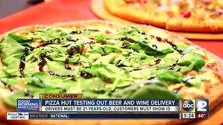 Pizza Hut tests out beer, wine delivery service - Video