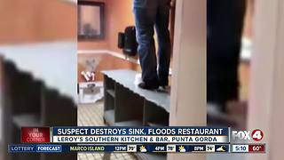 Punta Gorda restaurant bathroom destroyed - Video