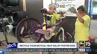 Recycle your bicycle, help Valley foster kids - Video