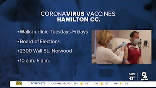 Walk-up COVID-19 vaccine clinic back at the Board of Elections starting Tuesday