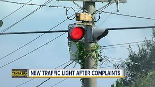 Complaints lead to new Riverview traffic light - Video