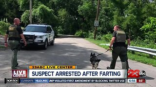 Suspect caught after farting