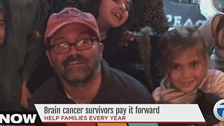 Brain cancer survivor pays it forward - Video