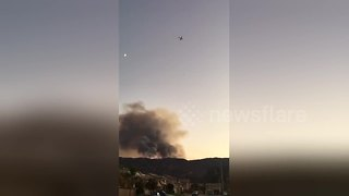 Wildomar Fire in Cleveland National Forest - Video