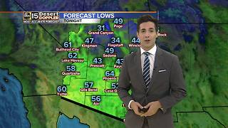 Rain makes a guest appearance, with cooler temps sticking around the Valley this weekend - Video