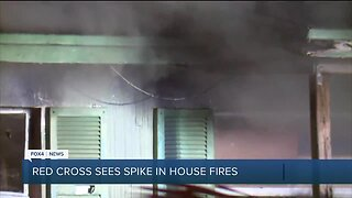 Red Cross sees spike in house fires