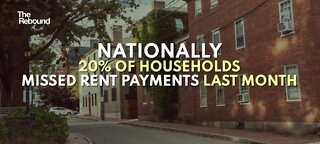 20% of households nationwide missed rent payments last month