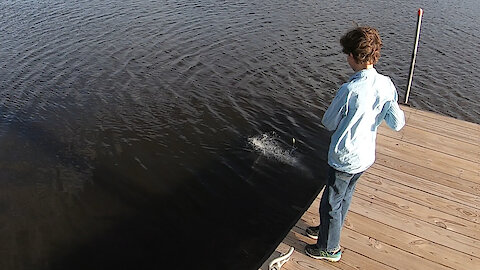 Fish Scares My Son! :) Wait For It!