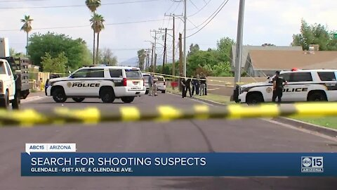 Suspects on the loose after shooting involving police near 61st Avenue and Glendale
