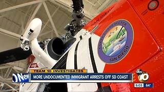 More undocumented immigrant arrests of San Diego coast - Video