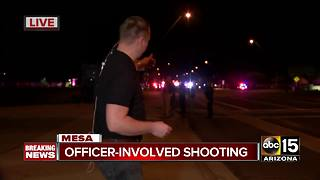 BREAKING: Officer-involved shooting in Mesa - Video