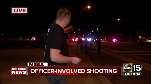 BREAKING: Officer-involved shooting in Mesa