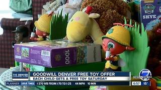 Goodwill toy giveaway - Video