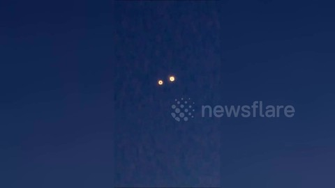 Chinese citizens film UFOs over Chongqing City