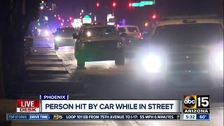 Pedestrian hit by car near 67th Avenue and Indian School Road dies - Video