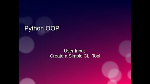 Python, OOP CLI and JSON (Ep. 12)