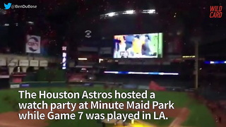 Fan Reaction At Minute Maid Park Shows How Much World Series Means To Houston - Video