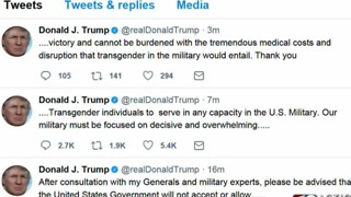 President Trump tweets about transgender people in the military