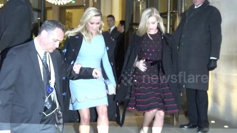 Reese Witherspoon leaves hotel to attend 'A Wrinkle in Time' premiere in London