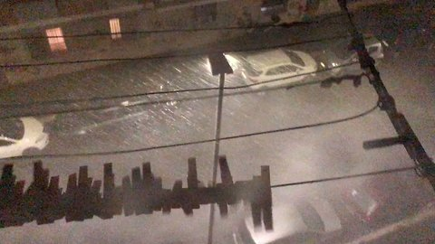 Hail and Flooding Disrupts Transport in Rome