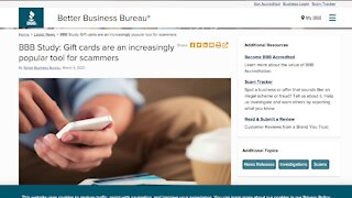 BBB warns about gift card scams