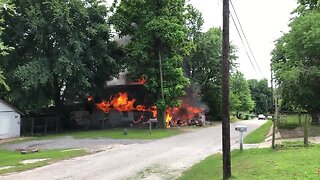Structure fire in Sand Springs