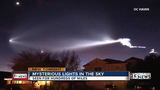 Nevadans spot mysterious lights in the sky - Video