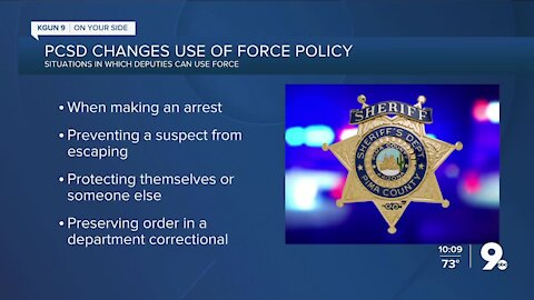 Pima County Sheriff's Department revises use-of-force policy