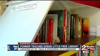 Former teacher opens 'Little Free Library'