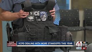 KCPD dealing with more standoffs