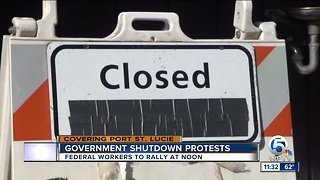 Federal workers in Port St. Lucie to protest government shutdown