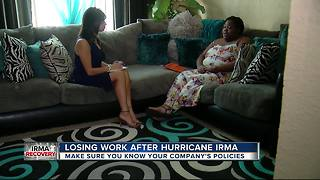 Woman loses job after Hurricane Irma