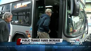 Some public transit fares increasing in January - Video