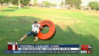 Lamont football coaches working on fundamentals - Video
