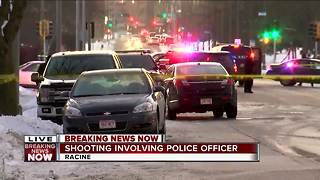 Police respond to officer involved shooting in Racine - Video